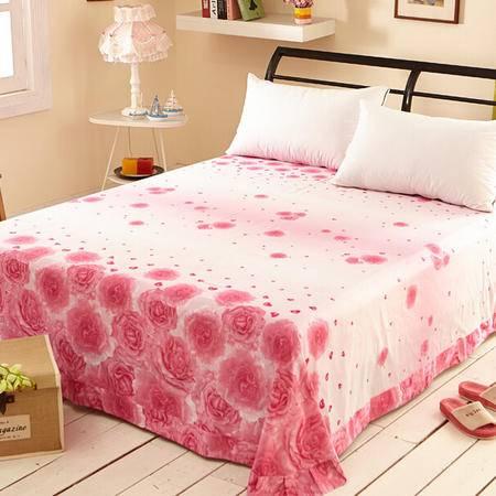 2015 全棉斜纹活性印花大版花床上用品纯棉单床单