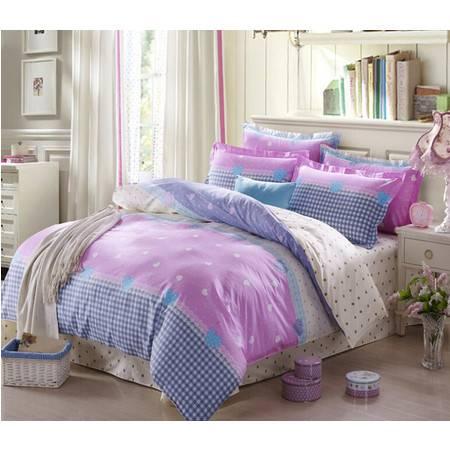 全棉斜纹半活性印花1.2床床单式三件套床上用品