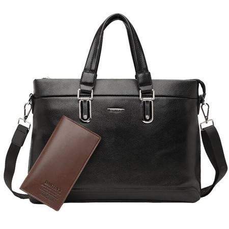 新款男士商务手提包时尚斜跨公文包14寸欧美高档电脑包