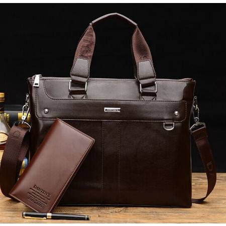 新款手拎包男士商务单肩包斜挎包手提包订做男公文包