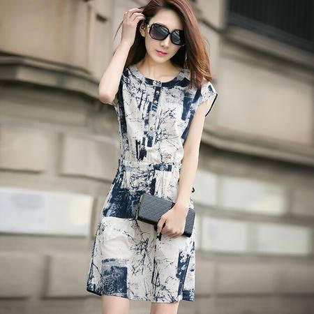 夏装女装正品新款修身显瘦气质甜美连衣裙