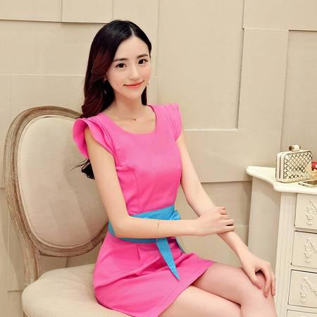 夏季新款时尚正品修身显瘦连衣裙配送腰带