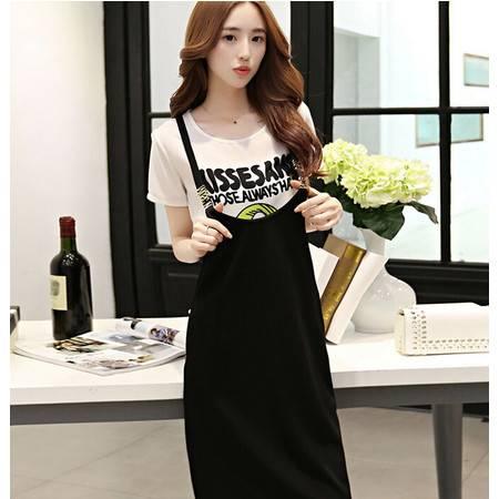 2015夏装女装正品新款修身显瘦气质休闲套装休闲套裙