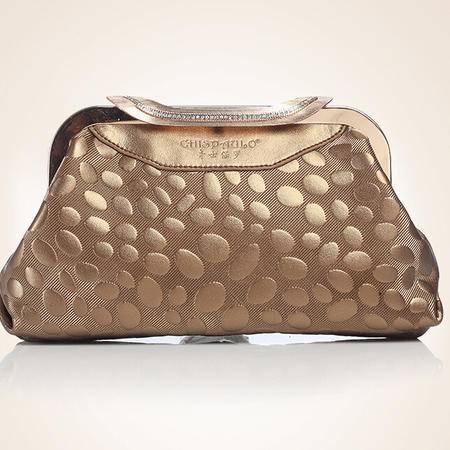 2015新款晚宴钻石夹子包牛皮链条小包潮流女包女包品牌