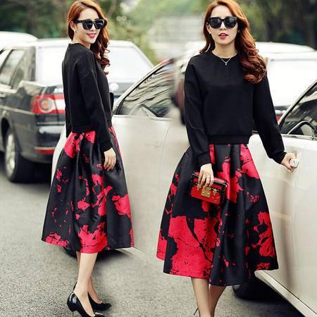 秋装女装正品新款修身休闲套装休闲套裙