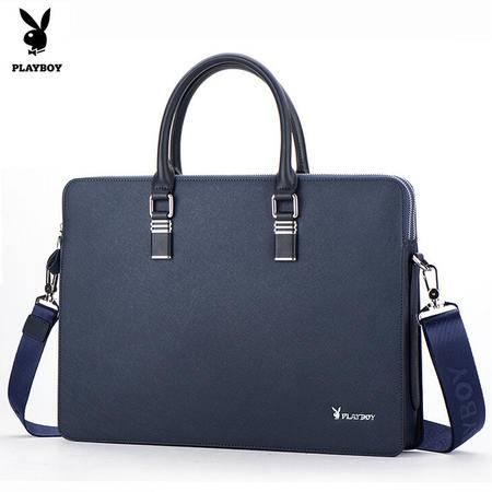 2015新款花花公子男包商务休闲男士公文包横款手提包男款欧美包包