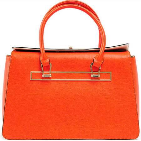 2015花花公子牛皮女士手提包通勤包 书包锁头定型包女包包