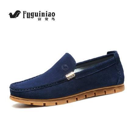 富贵鸟男士透气休闲鞋低帮男鞋韩版潮流板鞋磨砂皮鞋潮流真皮单鞋