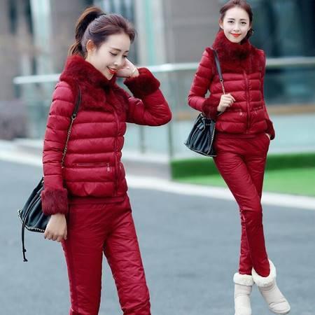 冬装显瘦气质甜美女装正品新款修身套装套裙