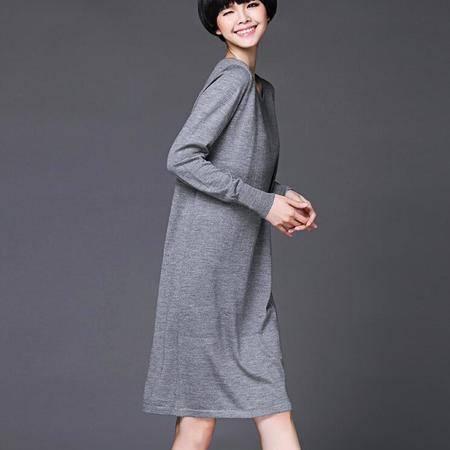 秋冬打底羊毛衫韩版纯色好质量羊毛针织衫中长款针织毛衣女