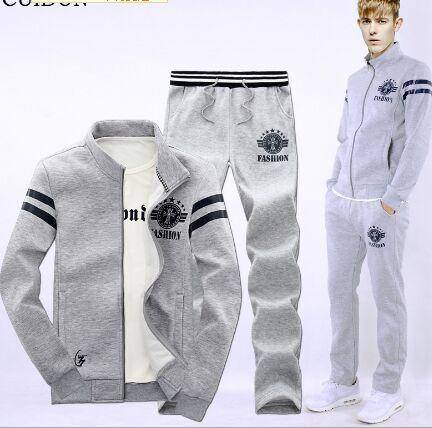2015秋装新品男式运动套装长袖韩版修身立领卫衣外套男装