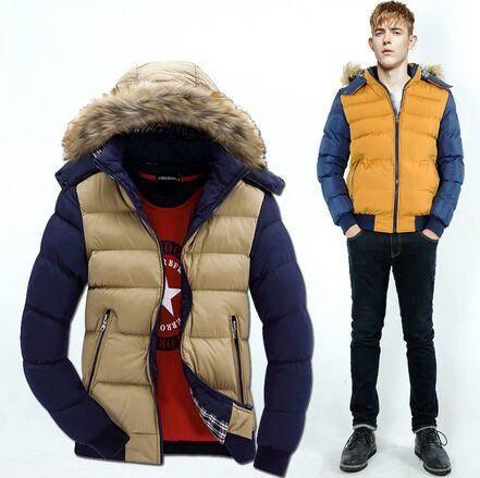 2015冬季新款男式棉衣韩版修身加厚连帽棉服外套男装休闲棉袄