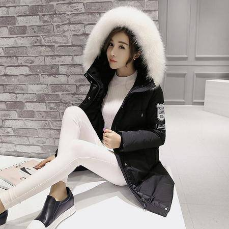 2016冬韩版羽绒服女外套大码女装中长款工装羽绒衣女时尚宽松加厚
