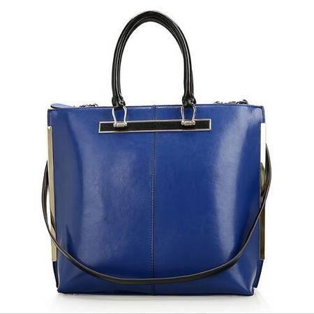 2015秋冬新款女包时尚牛皮单肩包手提大包真皮购物袋定型女士包包