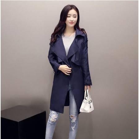 2016春秋装显瘦气质甜美女装正品新款修身风衣