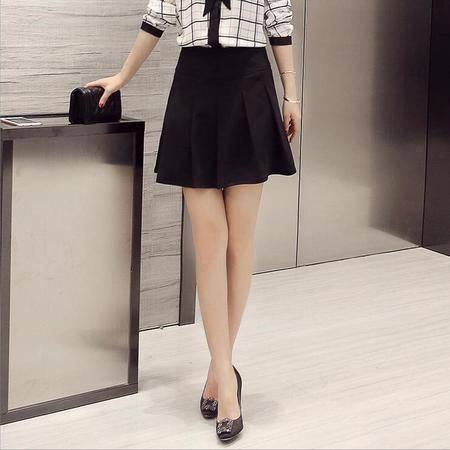 2016春装新款 时尚女装韩版高腰短裙子百褶裙