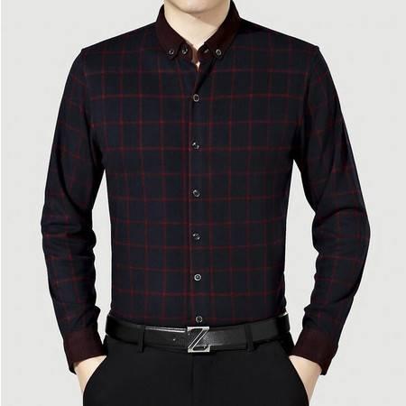2016年春季新款男式衬衫男装翻领男士长袖衬衫