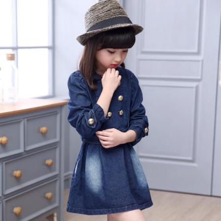 女童中大童韩版优质牛仔裙两件套 2016春夏新品童套装