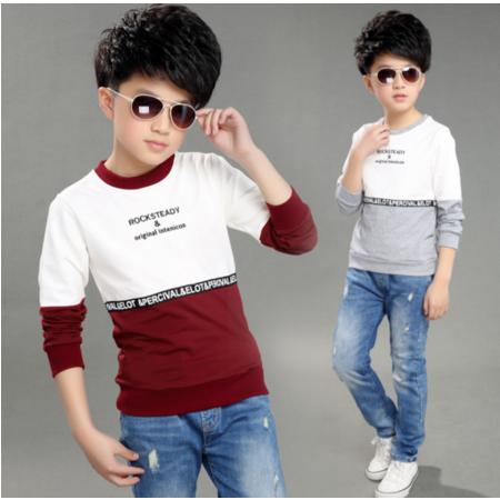 男童T恤春装2016新款长袖 韩版童装中大童儿童打底衫圆领上衣薄