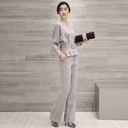 2016春装显瘦气质甜美女装正品新款修身套装套裙