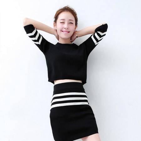 2015秋装显瘦气质甜美女装正品新款修身套装套裙