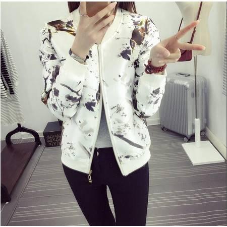 2016春装显瘦气质甜美女装正品新款修身短外套