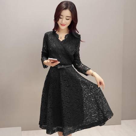 2016春夏装新款显瘦气质甜美女装正品新款修身连衣裙