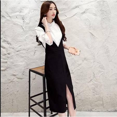 2016年夏季韩版时尚娃娃领甜美直筒长袖纯棉衬衫