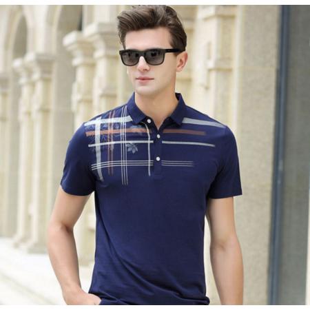 2016夏季新款男式t恤 男士短袖T恤 翻领短袖潮版男装