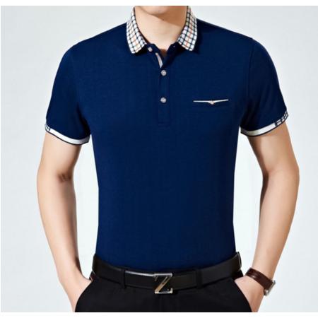2016夏季新款男式t恤 男士短袖t恤 男装中年商务翻领T恤