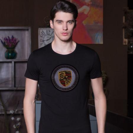 2016夏季新款男士T恤衫 圆领印花男式短袖t恤 时尚韩版品牌男装