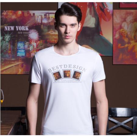 2016夏季新款男士短袖t恤 圆领印花男式T恤 韩版品牌男装 男t恤潮