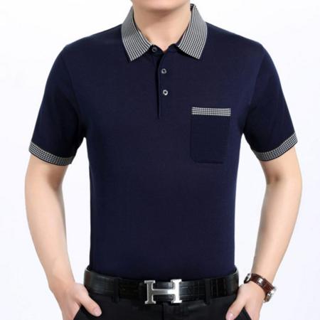 2016夏季新款男式t恤 男士商务针织短袖T恤 品牌男装