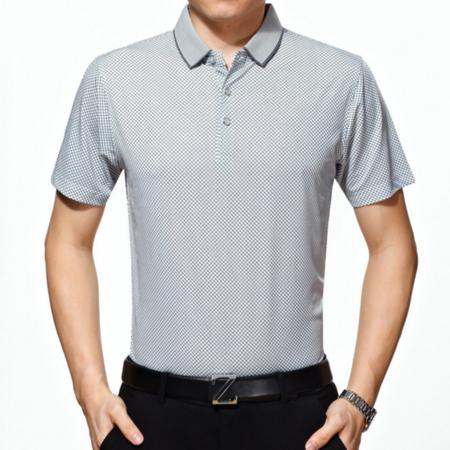2016夏季新款男式t恤 男士商务翻领短袖T恤 品牌男装