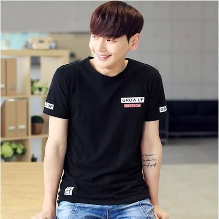 2016新款夏季t恤男式短袖 印花短袖纯棉t恤男韩版男装
