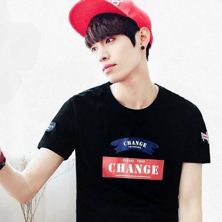 韩版男装2016新款夏装潮短袖t恤 纯棉男士t恤男装