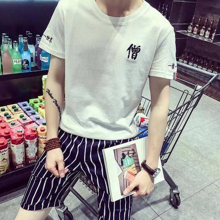 2016夏季爆款中国风潮款大码短袖t恤男式修身体恤潮