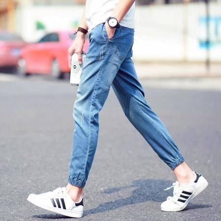2016夏季男士九分牛仔裤男韩版修身裤9分裤男子束脚裤男