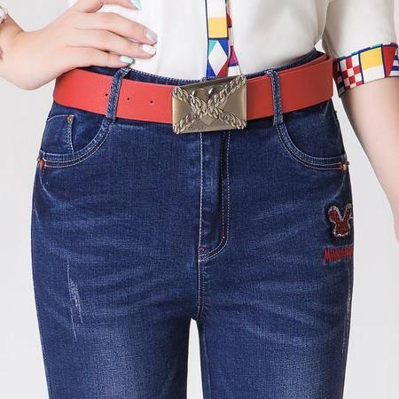 2016秋装新款正品哥弟时尚女装百搭修身舒适提臀牛仔裤