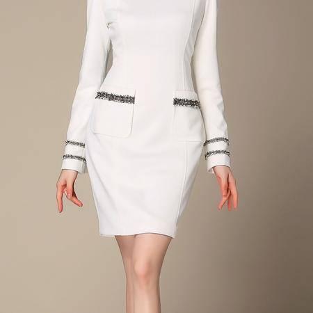 时尚女装正品哥弟新款2016秋装高档长袖连衣裙