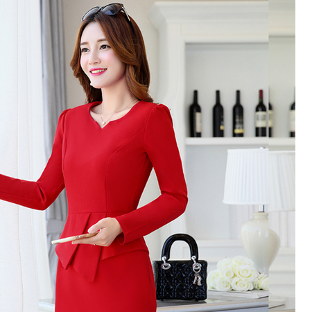 WZSY 长袖中裙2016年秋季拉链中腰圆领纯色针织连衣裙