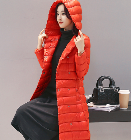 WZSY 修身2016年冬季显瘦棉服时尚潮流长款简约纯色