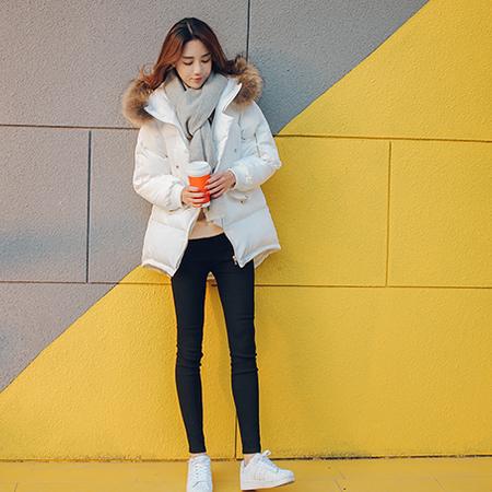 WZSY 时尚修身宽松优雅2016年冬季纯色棉衣/棉服优雅