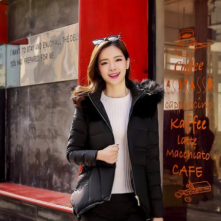 WZSY 白鸭绒修身涤纶拉链带毛领口袋2016年冬季套装/套裙