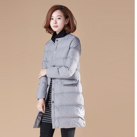 WZSY 2016年冬季长袖中长款口袋暗扣纯色时尚棉衣/棉服