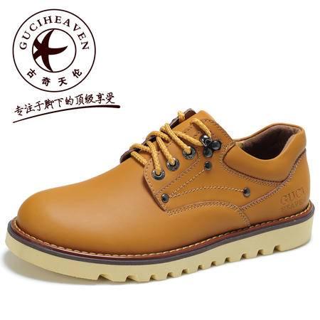 古奇天伦 男士商务休闲鞋潮鞋英伦工装鞋大头鞋皮鞋时尚男鞋5102
