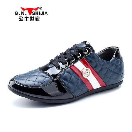公牛世家流行男鞋真皮休闲鞋男士皮鞋驾车鞋时尚平底鞋低帮鞋运动鞋888048