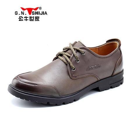 公牛世家春新款流行单鞋低帮皮鞋休闲鞋韩版驾车鞋简约男鞋888042