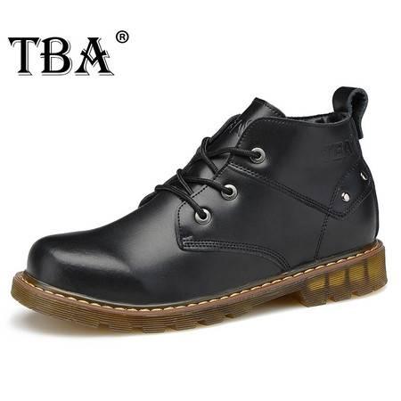 TBA牛头酋长2014秋冬高帮鞋男鞋休闲鞋男士真皮鞋子马丁靴工装鞋系带靴子