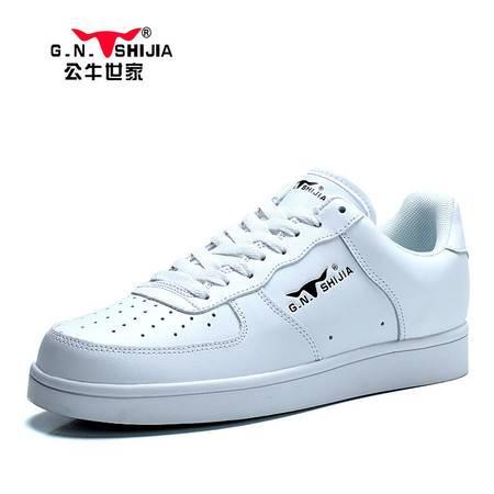 公牛世家2015新款透气滑板鞋运动鞋休闲鞋韩版潮流真皮鞋子男鞋